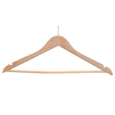 HANGER WOOD NATURAL MODEL NT ANTI-THEFT HOOK