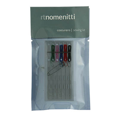 SEWING KIT PLASTIC BOX 6 THREADS NOMENITTI