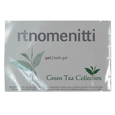 SACHET 10GR BATH GEL GREEN TEA NOMENITTI