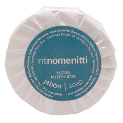 SOAP STD 15GR WHITE GREEN TEA ROUND NOMENITTI