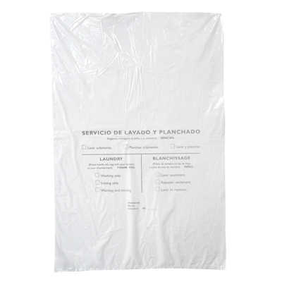 LAUNDRY BAG 40X59 PE WHITE STANDARD