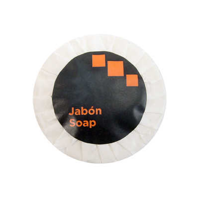 SOAP STD 15GR WHITE GREEN TEA ROUND ORANGE BLACK