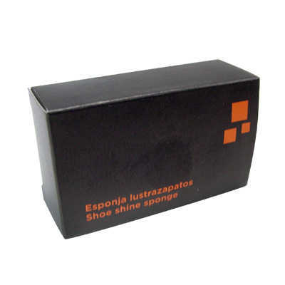SHOE SHINE SPONGE ORANGE BLACK