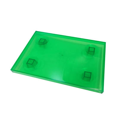 TRAY 1399 135X195 GREEN TRANSLUCENT