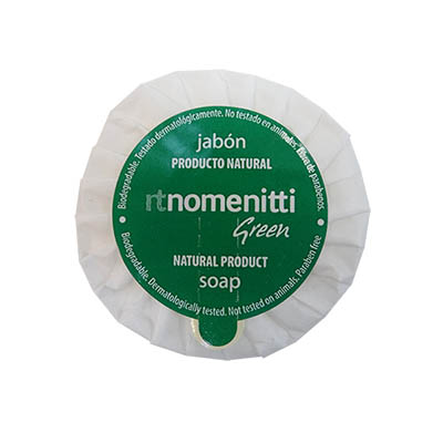 SOAP STD 15GR WHITE GREEN CUCUMBER NOMENITTI GREEN